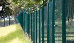 Weld Mesh with barred wire security fencing